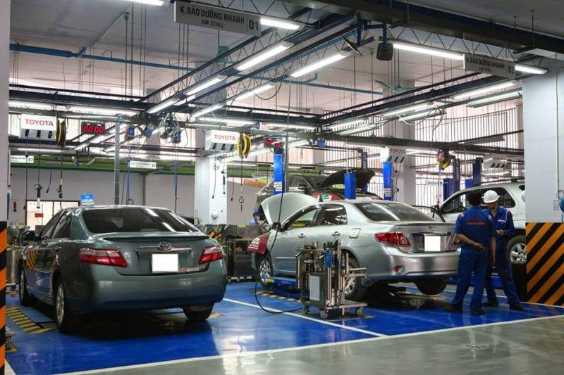 gara sửa xe ô tô